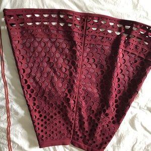 Jcrew red skirt